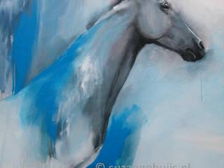 Paardenschilderijen van Suzanne Huijs; bezield en kleurrijk werk.: modern  door suzannehuijs.nl, Modern