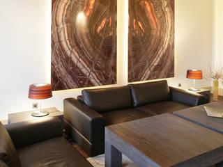 Projekt aranżacji wnętrz apartamentu z kompleksowym wykonawstwem i wyposażeniem pod klucz Klasyczny salon od Anna Buczny PROJEKTOWANIE WNĘTRZ Klasyczny
