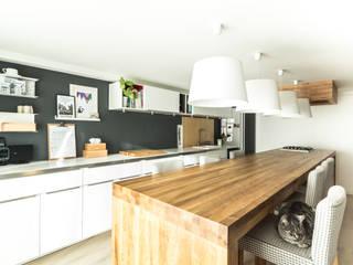 Kuchnia w garażu - Jaworzno - Stan obecny : styl , w kategorii  zaprojektowany przez Twindesign  - Kompleksowe Usługi Budowlane