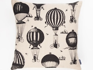 Balloon Bikes - 45cm hand screen printed cushion:   by Chase and Wonder