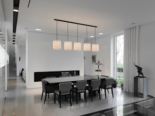 Le moellon Salle à manger moderne par Luc Spits Interiors Moderne