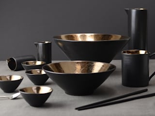 Metallic, Copper and Bronze Glazes for Ceramic Tableware Nom Living Dining roomCrockery & glassware