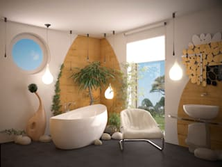 Tropical style bathroom by Инна Меньшикова Tropical