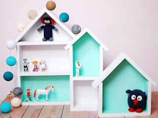Barwna półka domek : styl , w kategorii  zaprojektowany przez Sklep Internetowy Kiddyfave.pl