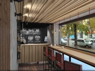 """Кафейня """"ЕДИСОН"""" г. Кривой Рог: Ресторации в . Автор – дизайн-студия 'КВАДРАТ'"""