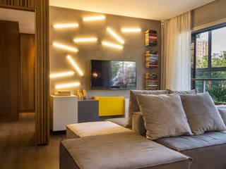 Salones minimalistas de Studiodwg Arquitetura e Interiores Ltda. Minimalista