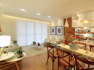 Eclectic style living room by Camila Tannous Arquitetura & Interiores Eclectic