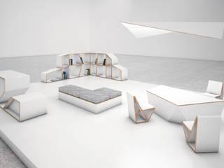 STANDS PERSONALIZADOS EN CARTÓN Diseño de ferias de estilo moderno de CARDBOARD FURNITURE AND PROJECTS Moderno