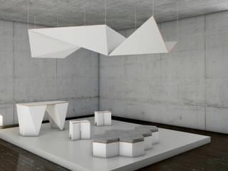 STANDS PERSONALIZADOS EN CARTÓN Diseño de ferias de estilo minimalista de CARDBOARD FURNITURE AND PROJECTS Minimalista