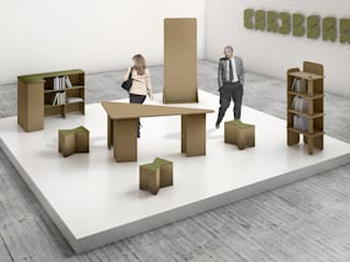 Modern event venues by CARDBOARD FURNITURE AND PROJECTS Modern