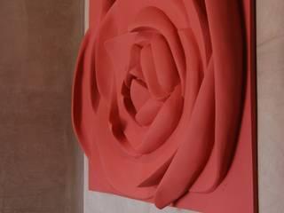 Painel Flor: Corredores e halls de entrada  por Iva Viana Atelier de Escultura,Moderno