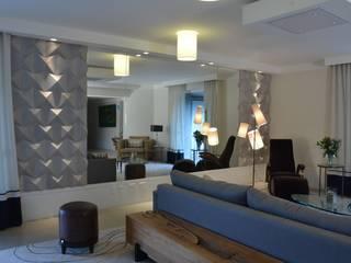 Living room by Kika Prata Arquitetura e Interiores., Modern