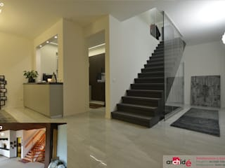 Archidé SA interior design 現代風玄關、走廊與階梯