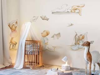 Pilar Burguet Mural ref 3400075: modern  by Paper Moon, Modern