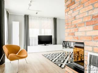 北欧デザインの リビング の Sałata-Pracownia Architektury Wnętrz 北欧