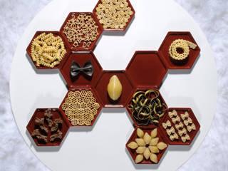 Manger dans des Tomettes (céramique émaillée / 12,5 x 11 x 1 cm) par [f] utilité Éclectique