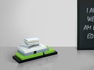 Stojak na książki, system modułowy od Sałata-Pracownia Architektury Wnętrz Minimalistyczny