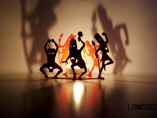 """Świecznik """"Dzicy"""": styl , w kategorii  zaprojektowany przez Longart,"""