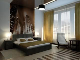 Интерьер с мебелью из IKEA.: Спальни в . Автор – Цунёв_Дизайн. Студия интерьерных решений.