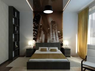 Интерьер с мебелью из IKEA. Спальня в стиле минимализм от Цунёв_Дизайн. Студия интерьерных решений. Минимализм