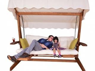 Swingroo Ahşap Bahçe Mobilyaları – Luna 2000 Ahşap Bahçe Salıncağı:  tarz