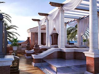 Private Terrace Classic style balcony, veranda & terrace by 3D Render&Beyond Classic