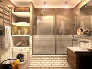 Inna Katyrina & 'A-LITTLE-GREEN' studio interiors Rustic style bathroom
