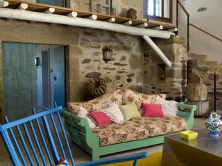 Casa de campo en Galicia de Oito Interiores Moderno