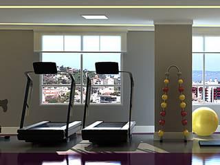 Edifício Connect | CKS Incorporações Fitness moderno por Monte Arquitetura Moderno