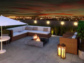 Terrazas de estilo  por Monte Arquitetura
