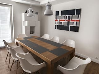 Scandinavian style dining room by Antracyt Scandinavian