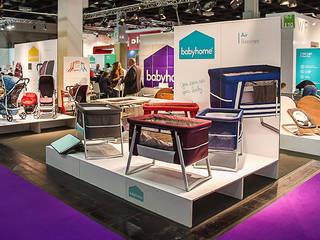 Diseño stand BabyHome. Kind&Jugend 2014 Diseño de ferias de estilo mediterráneo de Morgui Súnico Mediterráneo