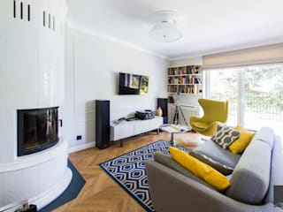 Antracyt Eclectic style living room