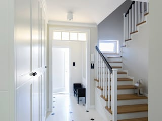 Antracyt Eclectic style corridor, hallway & stairs