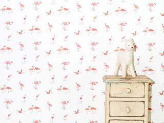 Pink Flamingos wallpaper:   by My Little Venture