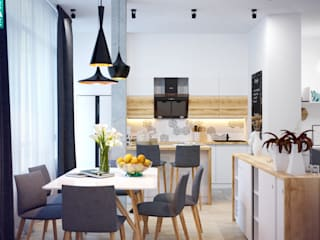 """3-к квартира """"Немецкая деревня"""": Кухни в . Автор – OnePlace studio interior design"""