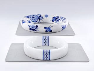 Blue Rings:   door Royal Delft