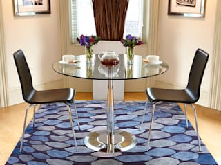 Deirdre Dyson 2013 DESIGNS FROM THE DEEP rug collection Deirdre Dyson Carpets Ltd Modern dining room