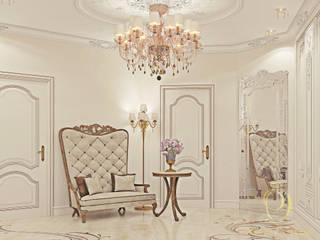 Белое золото Коридор, прихожая и лестница в классическом стиле от Premier Dekor Классический