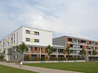 Loggien mit Schiebeläden:  Häuser von Koschany + Zimmer Architekten KZA