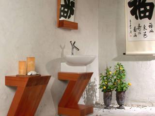 Projekt mebla łazienkowego Minimalistyczna łazienka od Anna Buczny PROJEKTOWANIE WNĘTRZ Minimalistyczny