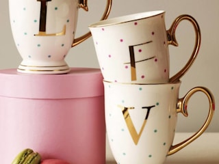 Spotty China Letter Mug:   by The Letteroom