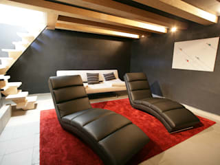 Chevallier Architectes Modern media room
