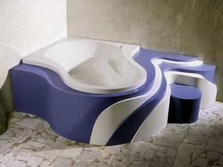 Projekt obudowy wanny Nowoczesna łazienka od Anna Buczny PROJEKTOWANIE WNĘTRZ Nowoczesny