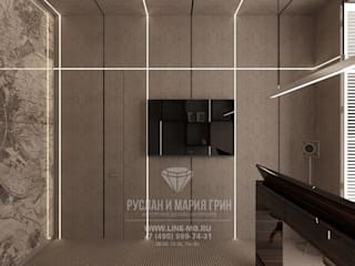 Oficinas de estilo industrial de Студия дизайна интерьера Руслана и Марии Грин Industrial