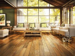 トロピカルスタイルな 壁&床 の Timberplan トロピカル