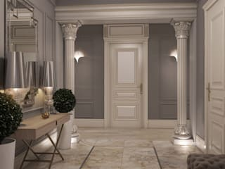 Classic corridor, hallway & stairs by E_interior Classic