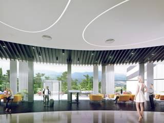 ГУРЗУФ РИВЬЕРА Гостиницы в стиле минимализм от 8d-architects Минимализм
