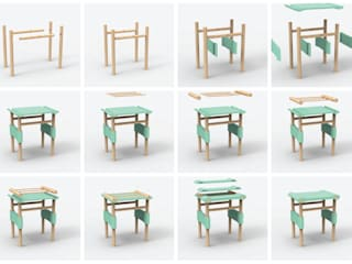 PLURAL PAPERS - STOOL par Sarah Augé Minimaliste