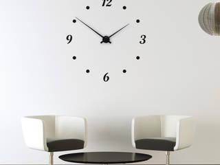 Horloge Murale Géante avec Chiffres & Minutes : jusqu'à 1,20 mètre de diamètre:  de style  par HorlogeMurale.fr